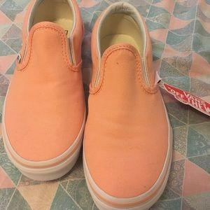 377eccd155 Vans Shoes - Vans slip on peach classics